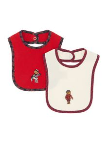 Girl`s bear bib set