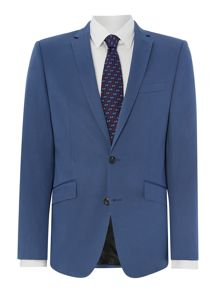 Cotton sateen slim fit regular suit jacket