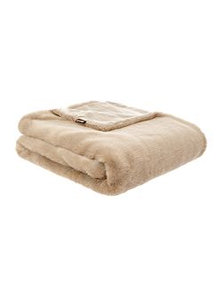 Faux mink throw