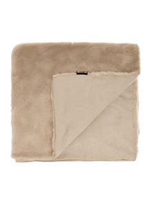 Biba Faux mink throw