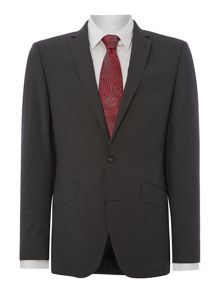 Ghost stripe slim fit suit jacket