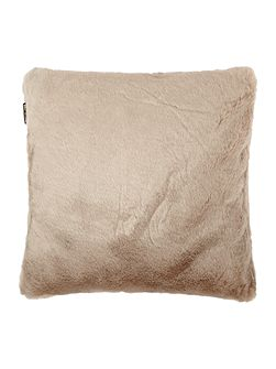 Faux mink cushion