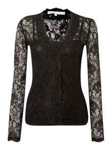 Millie Mackintosh Scalloped lace with cami top