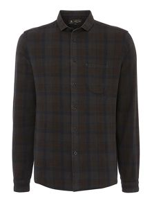 Shadow Overdye Check Long Sleeve Shirt