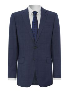 Window pane check regular suit jacket