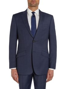Simon Carter Window pane check regular suit jacket