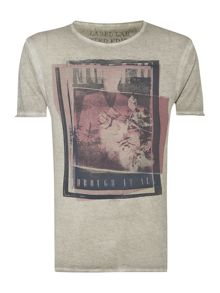 Negatives overlapping photos graphic t-shirt