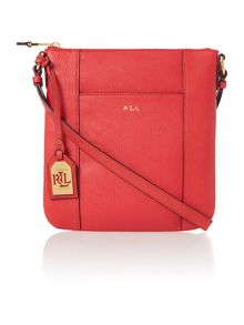 Red medium aiden cross body bag