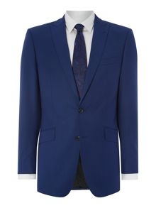 Twill solid regular fit suit jacket