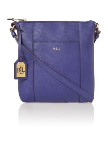 Blue medium aiden cross body bag