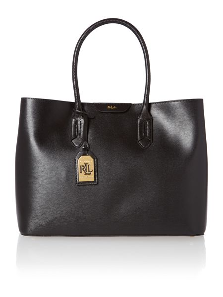 Lauren Ralph Lauren Black large city tote bag