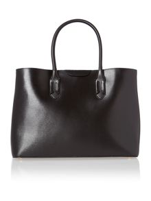 Black large city tote bag
