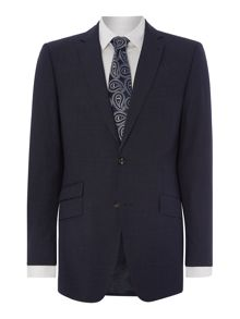 Textured regular fit suit jacket