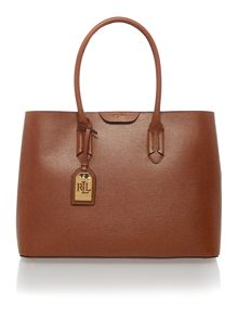 Lauren Ralph Lauren Tan large city tote bag