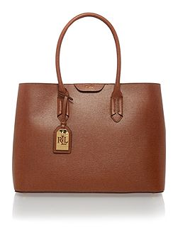 Tan large city tote bag
