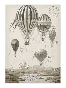 French Hot Air Balloon Canvas Print
