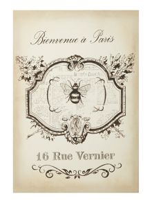Beautiful Paris Bee Canvas Print