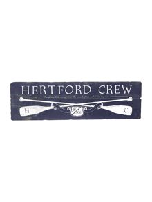 Hertford crew wall plaque