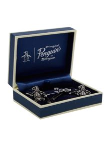 Penguin Cufflink And Tie Pin Set