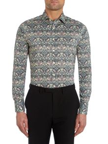 Liberty Print Birds Slim Fit Shirt