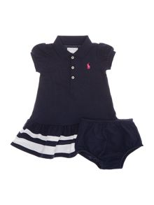Girl`s polo tipping dress