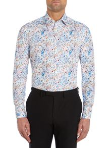 Bright Animal Floral Slim Fit Shirt