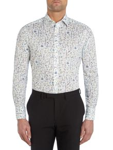 Bright Animal Liberty Print Floral Slim Fit Shirt