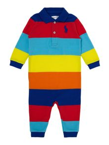 Boy`s classic multi-coloured all-in-one