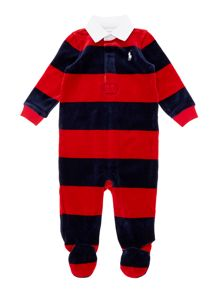 Boy`s all in one stripe rugby