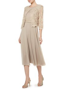 Eliza J Mesh and Lace Dress and Jacket