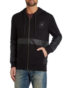 Coated zip up hoody