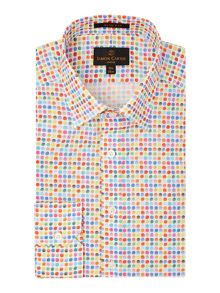 Multi Spot Slim Fit Shirt