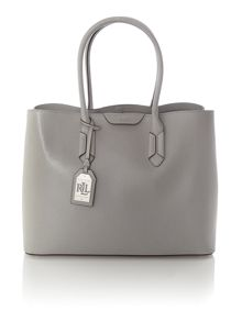 Grey large city tote bag