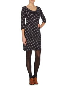 Spotty petra jersey dress