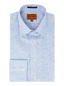 Paisley Jacquard Slim Fit Shirt