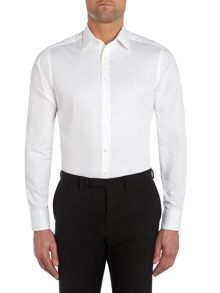 Simon Carter Spot Jacquard Slim Fit Shirt