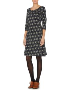 Sally jersey dress in dandelion print