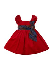 Girls cord capped sleeve dress