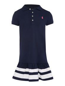 Girls short sleeved polo dress