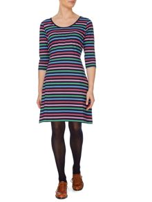 Deckchair stripe jersey dress