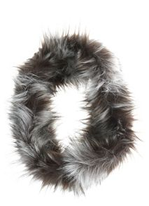 Chocolate Faux Racoon Snood