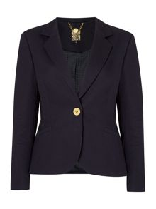 Tailored scallop detail buttoned jacket