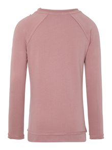 Girl`s jewel neckline sweat