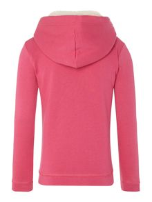 Girl`s zip through fleece lined hoodie