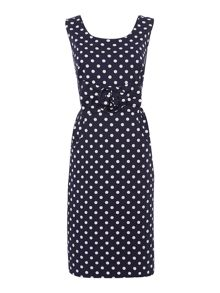 Vivien rose spotty dress