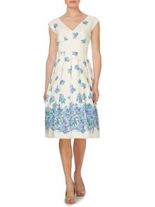 Dorcas dress with floral border
