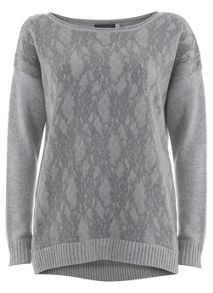 Silver Grey Mix Knit
