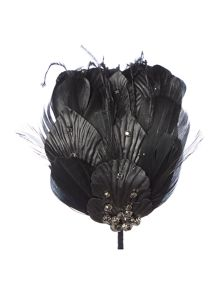 Marie feather stud and PU fascinator