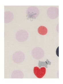 Heart spot dog scarf