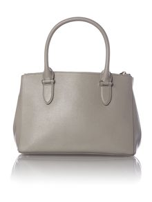 Grey newbury double zip tote bag